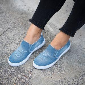 👠 Light Blue Denim Slip on Sneakers - Yogi